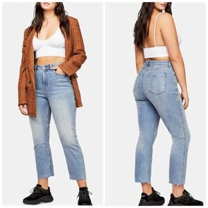 Free People CRVY High Rise Vintage Straight Jeans